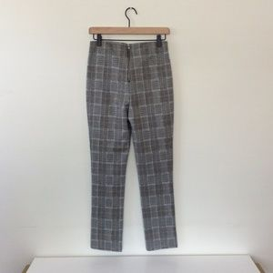 H&M Pants - H&M Slim-fit Grey Plaid Pants